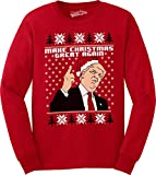 Crazy Dog Tshirts - Make Christmas Great Again Funny Ugly Christmas Unisex Crew Neck Sweatshirt (Red) M -