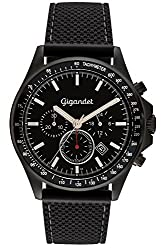 Gigandet Mens Quartz Watch Volante Chronograph Analog Silicone Strap Black G3-009