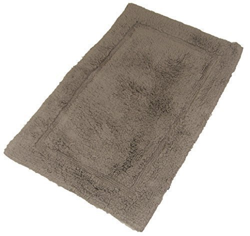 de luxe 100% coton doux moelleux Pierre Taupe Tapis salle de bain Tapis de bain 55 x 85cm