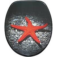 WC Sitz mit Absenkautomatik, hochwertige Oberfläche, einfache Montage, stabile Scharniere, Deep Sea