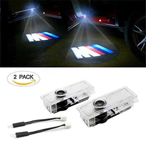 Einstiegsbeleuchtung Laser Projektor Logo Licht für 3 Series E90 E91 E92 E93 E60 5 Series E61 F10 F11 6 E63 E64 7 E65 E66 F01 X5 E70 X6 E71 (2Stk)
