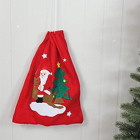 regalo di Natale 5pcs borse decorazioni natalizie natale sacchetto di caramelle borsa zaino Natale ornamenti decorazioni Santa pupazzo di neve ornamento 30cm