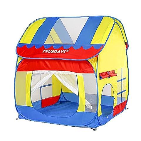 Truedays Kids Outdoor Indoor Fun Play Big Tent Playhouse, 55.1x47.2-Inch#058