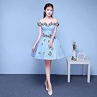 YL LY Colorido Hilado Vestido de Novia Vestido de Boda Solo Rendimiento Vestido de Prueba de Arte Femenino Vestido de Estudio Vestido de Dama de Honor,UN,XS