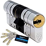 Schlosser Technik Cylindre européen de haute sécurité, 3 étoiles, TS007, approuvé par Sold Secure (niveau Diamond) et la police britannique (prix Secured by Design)