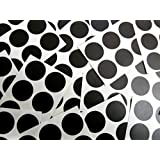 Minilabel 25mm (1 Inch) Round Circular Self-Adhesive Sticky Dot Labels, Coloured Stickers - Black Circles (Pack of 102)