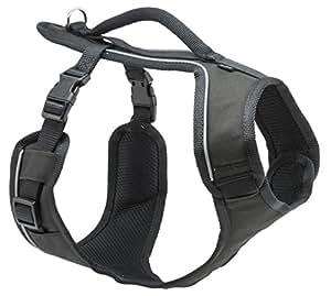 PetSafe Harnais pour Chien Moyen EasySport (M) avec Poignée de Contrôle - Réfléchissant - Ajustable - Confortable - Rembourré - Noir