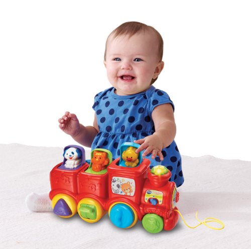Image of VTech Baby Pop Up Friends Train