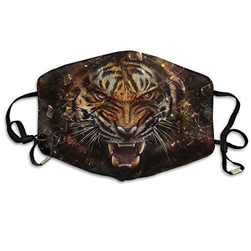 WBinHua Masken, N7bloom Boys Winter Warm Mouth Anti-Dust Flu Face Mask Tiger Glass Shards Aggression Teeth