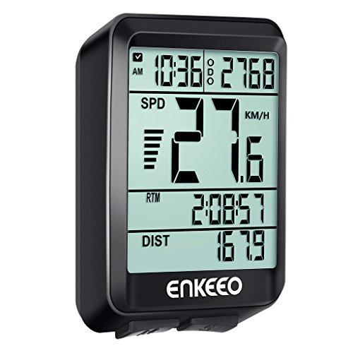ENKEEO Ordinateur Compteur de Vélo Avez Actuelle/Moyenne/Maximale Vitesse Speed Tracking Speedometer, Temps de Voyage/Distance pour Le Cyclisme ...