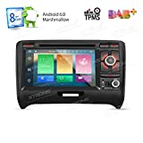 XTRONS 17,8 cm Android 6.0 Octa-Core Kapazitive Touchscreen Autoradio DVD Player GPS Canbus Screen Mirroring Funktion OBD2 Reifendruck Kontrolle für Audi TT MK2