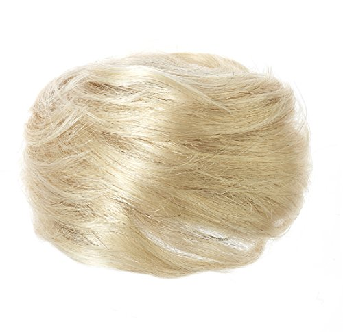 American Dream Luxueux Chignon 100 % Cheveux Humains Couleur 22/60/613 Blonds Mélangés Petit