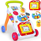 Lauflernwagen Spiel- und Laufwagen für Baby und Kleinkind mit Zaubertafel, Piano, Handy