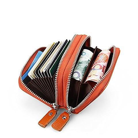 Wrapper Costume - Cartes RFID Portefeuille en cuir Petit portefeuille