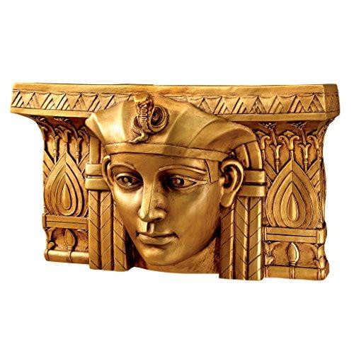18 Herrscher (Design Toscano EU32444 Wandskulptur Pharaoh Ramses I. Ägyptischer Herrscher, Harz, bronze, 18 x 47 x 28 cm)