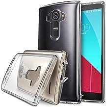 LG G4 Funda - Ringke FUSION ***COMPATITLE Con LG G4 CUERO*** [Protector de Pantalla Gratuito][CRYSTAL VIEW][Todo Nuevo Polvo Tapa Libre & Caída Protección] Prima Crystal Clear Back Absorción de Choque de Parachoques del Funda Duro con Protección de Pantalla HD Gratis para para LG G4 - Eco/DIY Paquete