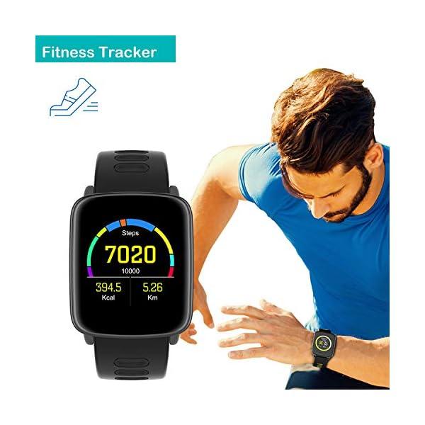 Willful Smartwatch con Pulsómetro,Impermeable IP68 Reloj Inteligente con Cronómetro, Monitor de sueño,Podómetro,Calendario,Control Remoto de música,Pulsera Actividad para Android y iOS 6
