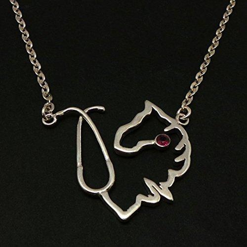 925-sterling-silber-krankenschwester-pferd-stethoskop-halskette-halskette-mit-ruby-birthstone-gesche