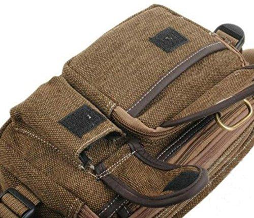 BULAGE Taschen Männer Taschen Handtaschen Leinwand Brustbeutel Männer Reißverschlussbeutel Multifunktions Sport Geldbeutel Querschnitt Mode Sport Schulranzen Brown