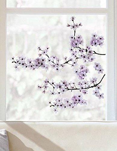 Fensterdeko/ Fensterfolie/ Fenstersticker -Kirschblüten- 24 x 69 cm