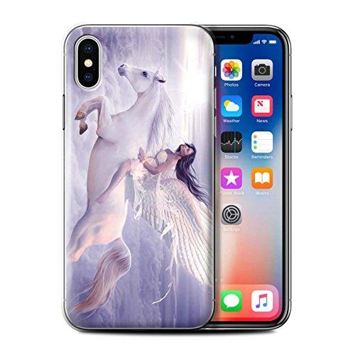Officiel Elena Dudina Coque / Etui pour Apple iPhone X/10 / Tombé Design / Fantaisie Ange Collection Je Peux Voler