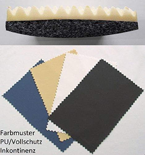 Faltrollstuhlkissen aus Verbundschaum & 5 cm Visconoppen Inkontinenzbezug (40 x 40, blau) (Falt-rollstuhl)