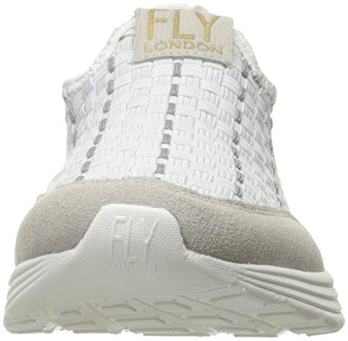 FLY London Sati949, Sneakers Basses Femme Blanc Cassé (Off White 001)