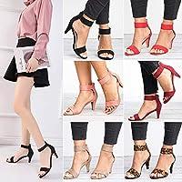 Festnight Women Shoes,New Fashion Women PU Ankle Strap Gladiator Sandals Ladies OL Low Heel Wedding Summer Shoes High Heels