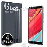 Ferilinso [4 Pack Panzerglas Schutzfolie für Xiaomi Redmi S2, Gehärtetes Glas Bildschirmschutzfolie mit Lebenszeit Ersatzgarantie für Xiaomi Redmi S2 (Transparent)