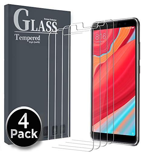 Ferilinso[4 Pack Cristal Templado para Xiaomi Redmi S2,Protector de Pantalla Screen Protector con garantía de reemplazo de por Vida para Xiaomi Redmi S2