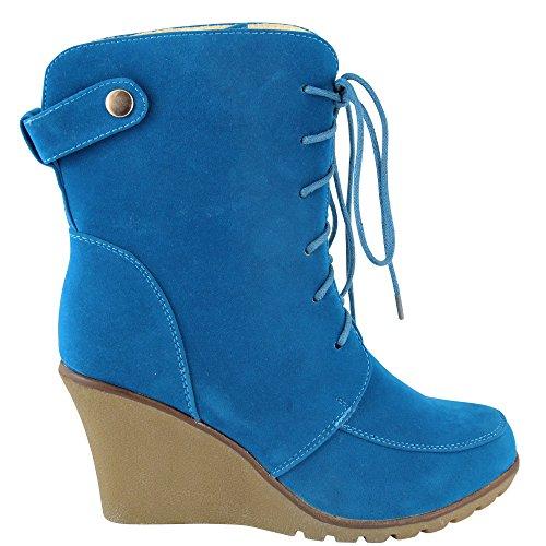 Unbekannt , Hi-Top Slippers femme Bleu - Bleu