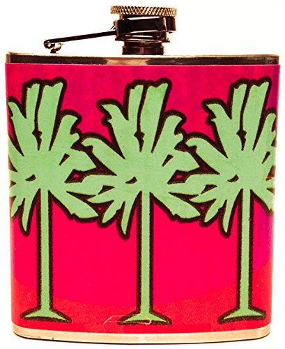 the-life-imagined-palms-pink-stainless-steel-flask-6-ounce