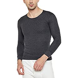 Neva Men Solid Thermal Top Anthra Coloured Small
