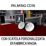 Palming Coins ( versione mezzo dollare,10 pezzi ) Con astuccio personalizzato Esclusivo di Fabbrica Magia
