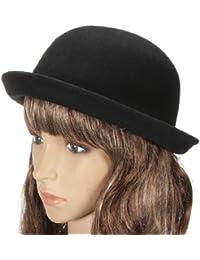 Chapeau Melon Canotier En Feutre Laine Avec Bords Femme Homme Cloche Bowler Hats