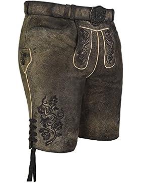 Michaelax-Fashion-Trade Spieth & Wensky - Herren Trachten Lederhose mit Gürtel, Degenhard (260135-0964)