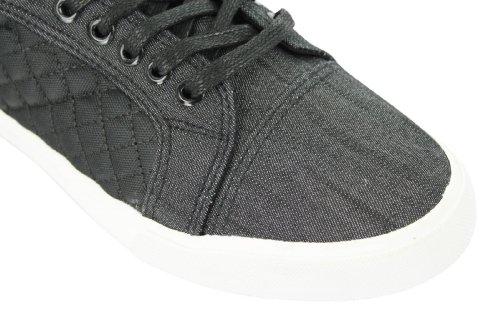 Hommes Twisted Faith Montante Tennis/ Chaussures Jeans/matelassé Trims Noir