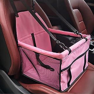 Auto-Zusatzsitz für Hund,HomeYoo Hund Sitzbezug Pet Booster Carrier Autositzabdeckung mit wasserdichtem & rutschfester Backing Design für alle Autos, Trucks & SUVs (Rosa)