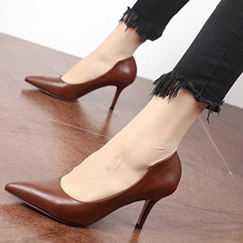 FLYRCX Semplice fashionsingle shoesingle shoesingle shoespring e autunno seasonladies belle scarpe tacco A
