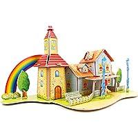 3D gruesa espuma Cartón Puzzle bricolaje Kit de artesanía/Modelo de edificio/Regalo/Kit de modelo Para niños # 34 - Peluches y Puzzles precios baratos