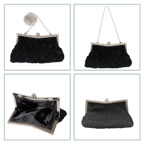 B-JOY, Poschette giorno donna grigio Grau mini Tasche Nero
