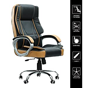 Green Soul® Vienna Big & Tall Premium Finish Manager, Boss, Executive Office Chair (Black & Tan) (+3 Colors)