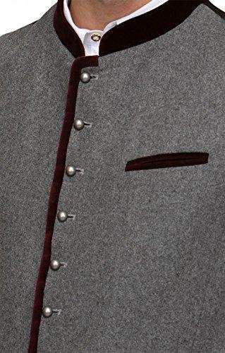 Michaelax-Fashion-Trade Stockerpoint - Herren Trachten Weste in verschiedenen Farben, Alonso, Größe:52, Farbe:Grau - 8