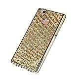 Glitzer Handyhülle für Huawei P10 Lite,Silikon Hülle für Huawei P10 Lite,Leeook Luxus Stylish Glänzend Kristall Gli