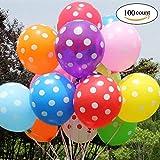Yojoloin Aufblasbarer Ballon 12 Zoll 100 Stücke Party Ballon Geburtstag, Hochzeit, Feier, usw. (Zufällige Farbe, 100 STÜCKE)