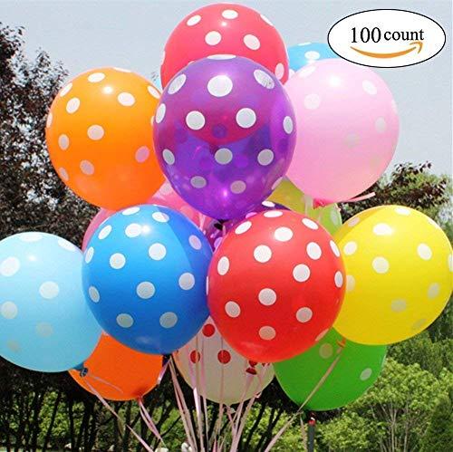 Yojoloin Globo Inflable 12 Pulgadas 100 Piezas Globo de Fiesta Colores Surtidos para cumpleaños, Boda, celebración, etc. (Color Aleatorio, 100 Piezas)