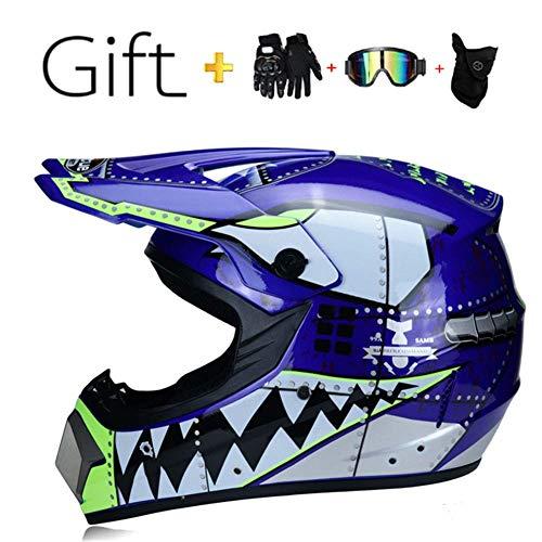 SK-LBB - Casco da motocross per bambini o adulti, con scooter ATV Downhill MX, certificazione D.O.T