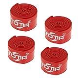 Sharplace 4 Stück Nylon Pannenschutzband 26 Zoll Reifen für Fahrrad - Rot