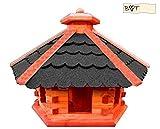 Vogelhaus, Futterhaus, Holz massiv, PREMIUMQUALITÄT, Vogelfutterhaus in Größe 53 cm atOS