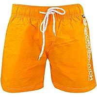 Mens Swim Shorts Crosshatch Bright New Mesh Lined Drawcord Summer Beach Trunks